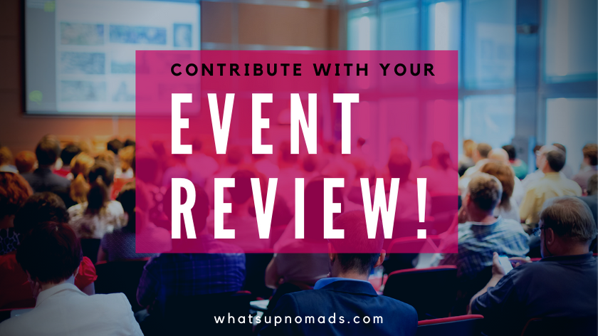 Contribute with your event review!