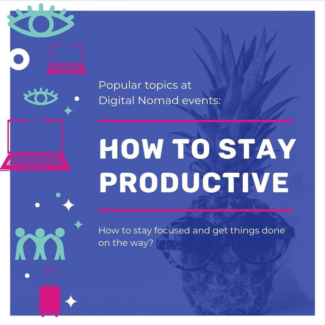 """""""How to stay productive"""" is probably the biggest concern after """"making money""""."""