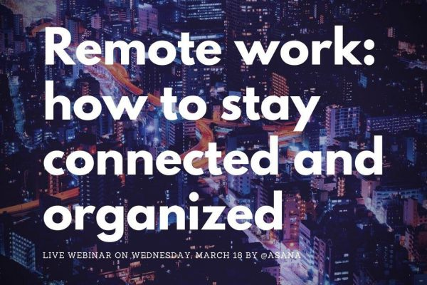 "Webinar ""Remote work: how to stay connected and organized""."